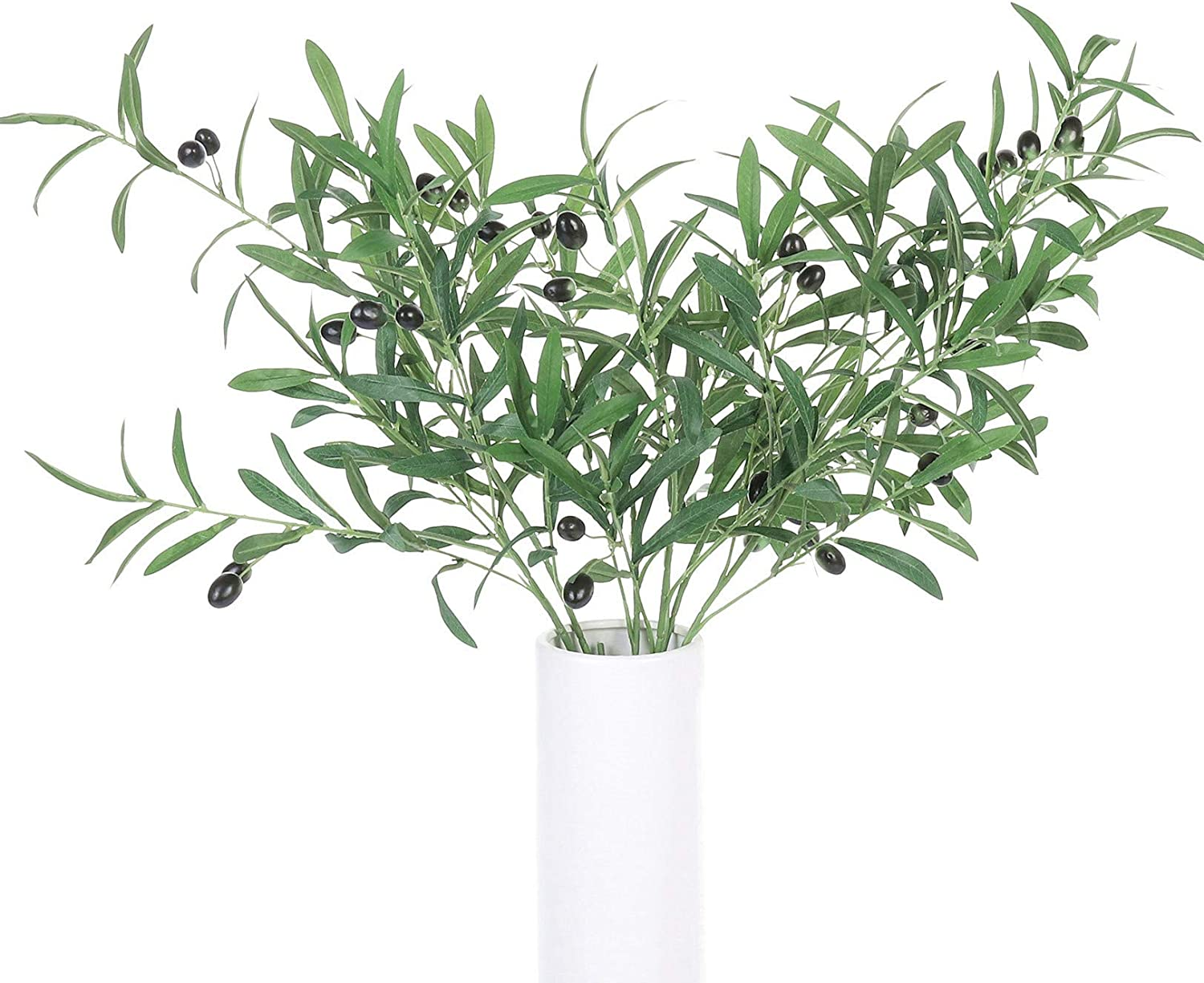 ShoppeWatch Artificial Olive Leaves and Stems with Fruit for Decoration Faux Tree Plant Fake Olives Leaf Home Kitchen Party Plastic Decor AF17