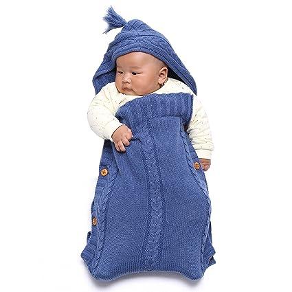 Baby Sacos de dormir, tinabless Manta Saco de dormir manta punto Manta de Bebé Recién