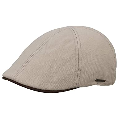 eddbb07e27c1f Stetson Texas Canvas Nubuck Flat Cap Men Beige XXL (7 3 4-7 7 8) at ...
