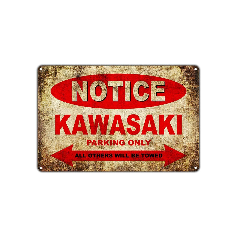 Hermoso cartel de la marca kawasaki para lucirhttps://amzn.to/2ONA5dP
