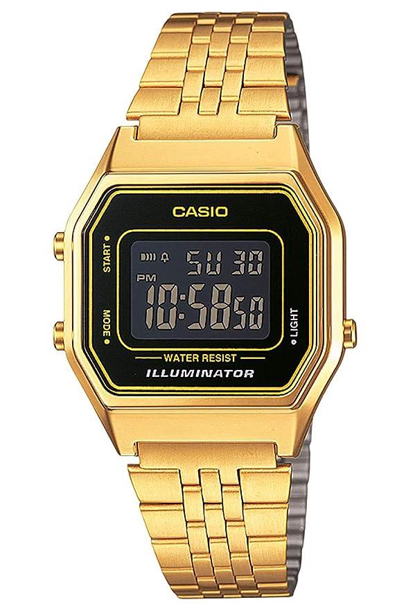 Casio Reloj Digital para Mujer de Cuarzo con Correa en Acero Inoxidable LA680WEGA-9BER: Amazon.es: Relojes