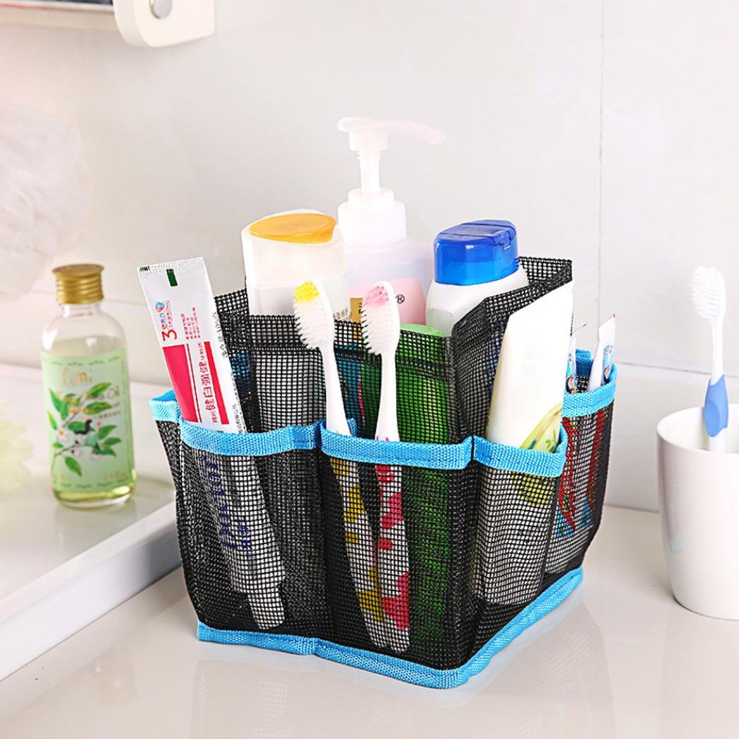 88a8e5e27c8f well-wreapped Fineser Mesh Shower Tote Wash Organizer Storage Bag Bathroom  Caddy With 8 Basket
