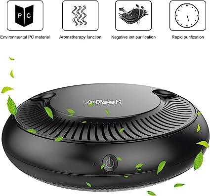 Amazon.es: ieGeek - Purificador de aire para coche con filtro HEPA ...