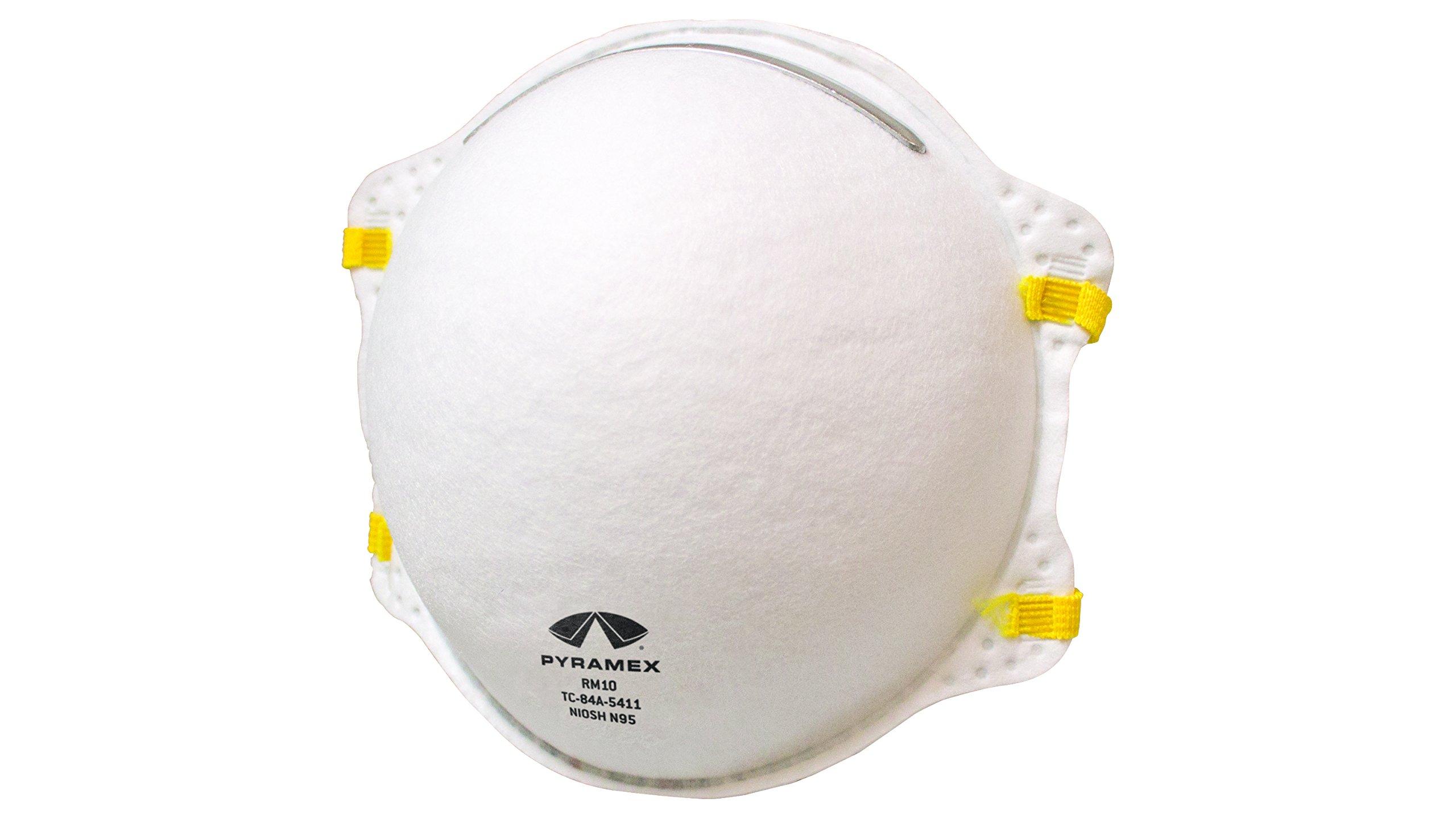 Pyramex RM10 N95 Particulate Dust Masks -Cone Respirator Masks (20 Pack)