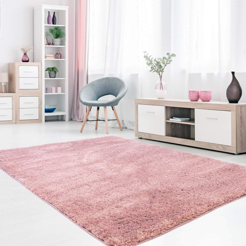 MyShop24h Teppich Teppich Teppich Hochflor Shaggy Langflor Micro-Polyester Pastel Einfarbig Wohnzimmer Schlafzimmer, Farbe Grau, Größe in cm 280 cm_x_cm 380 65dc2b