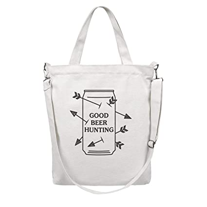 Amazon com: Canvas Tote Bag Good Beer Hunting Grocery Tote Bag