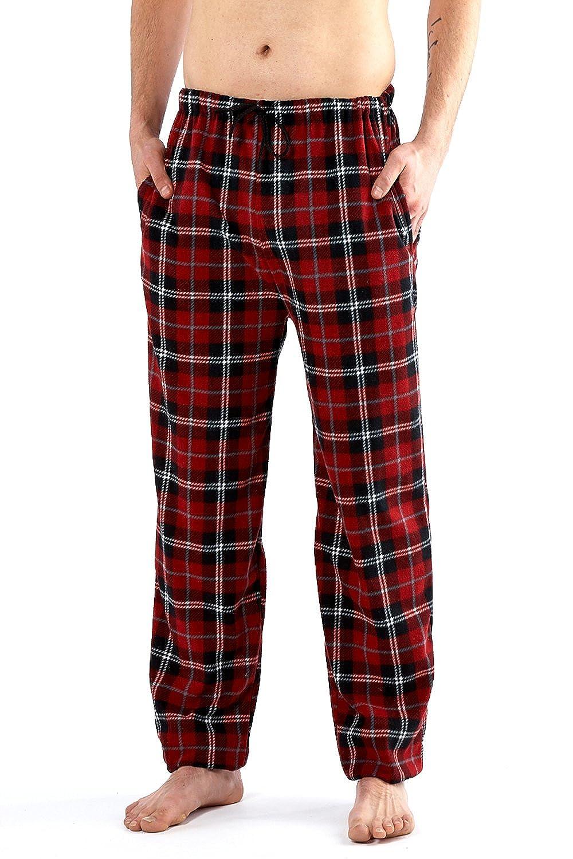 Mens Harvey James Fleece Lounge Bottom Soft Feel Pyjama Pants Comfortable Winter