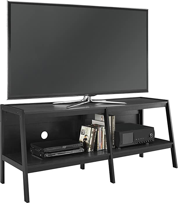 "Ameriwood Home Altra Furniture Ladder Entertainment Center TV Stand, 60"", Black"