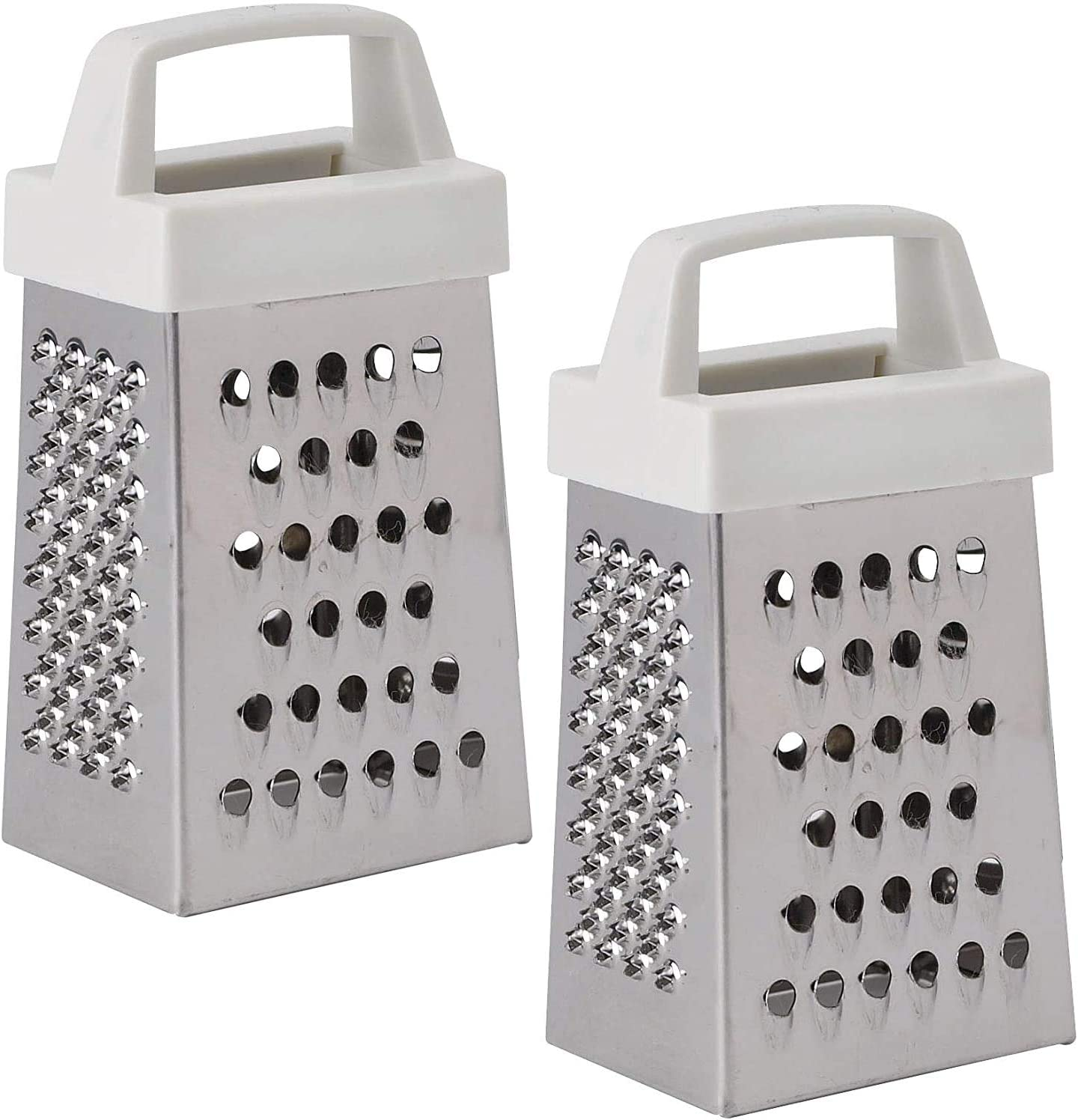 Stainless Steel Mini Cheese Grater 2 Pieces Perfect Stix Mini Garlic Grater Magnetic Holder Handheld Cheese Peel Cutter