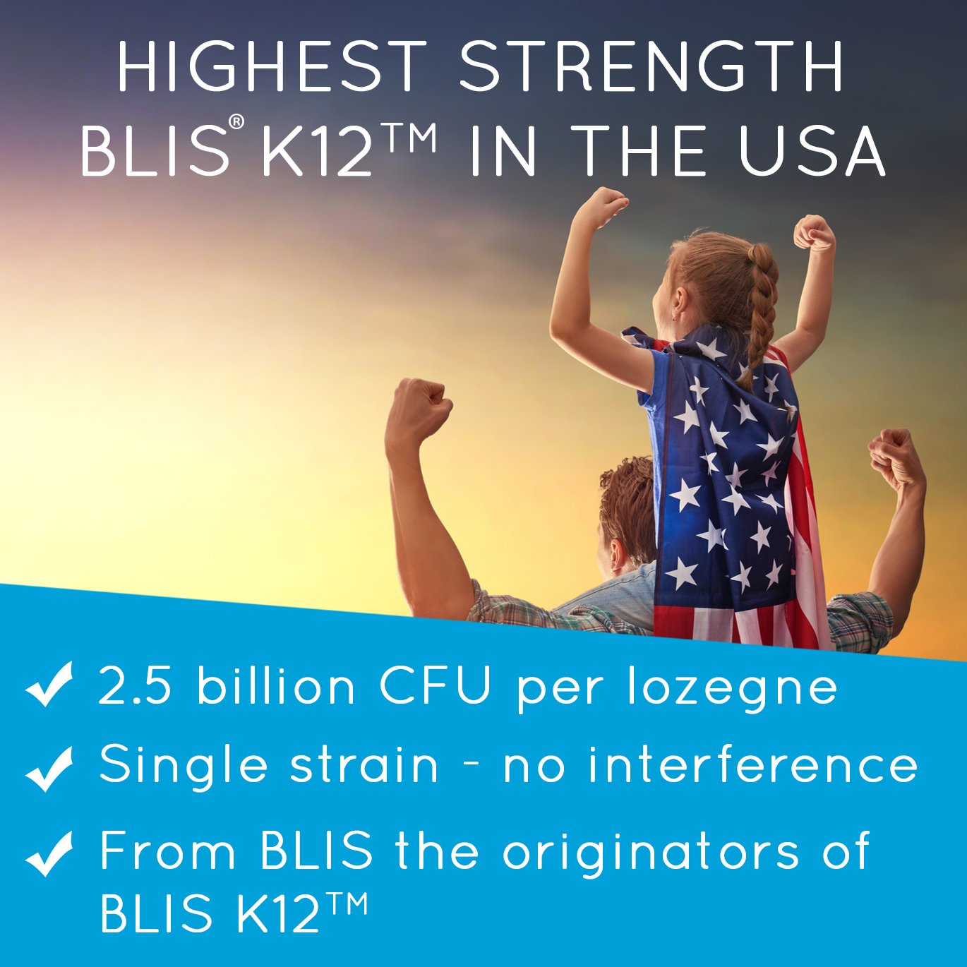 BLIS ThroatHealth Oral Probiotic, Most Potent BLIS K12 Formula Available, 2.5 Billion CFU, Throat Immunity Support for Adults and Kids, Sugar-Free Lozenges, 30 Day Supply by bliss (Image #3)