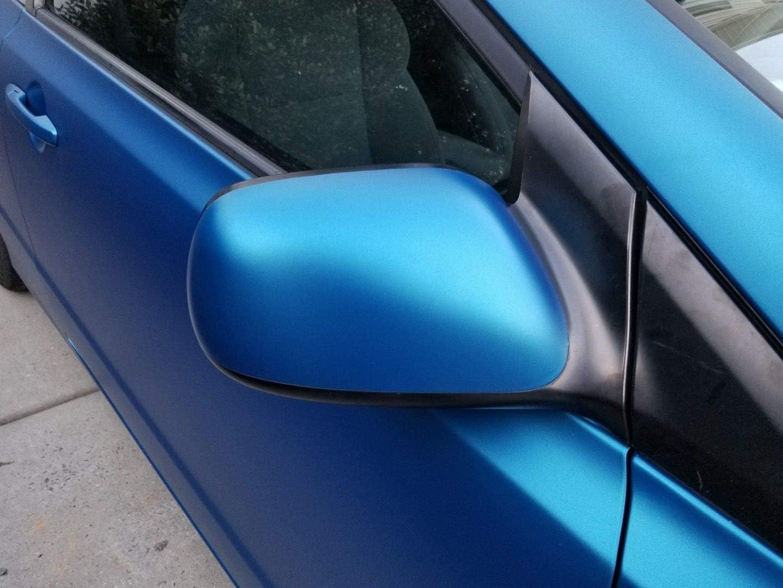 VVIVID8 blue chrome satin matte car wrap vinyl 1ft x 5ft conform stretch 3MIL