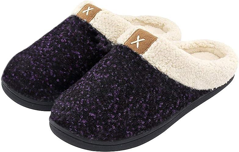 Cozy Memory Foam Slippers with Wool-Like Plush Fleece