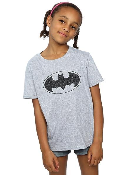 45197afb Amazon.com: DC Comics Girls Batman One Colour Logo T-Shirt: Clothing