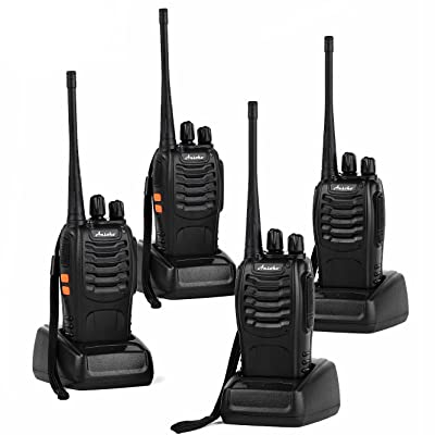 Ansoko Long Range Walkie Talkies Rechargeable Two Way Radios FRS/GMRS 16-Channel UHF 2-Way Radio for Adults (Pack of 4): Car Electronics