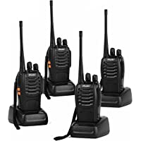 Ansoko Walkie Talkie Rechargeable Long Range Two Way Radios 16-Channel 2 Way Radios (Pack of 4)