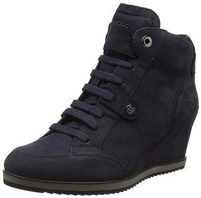 best service 975ce a62e6 Geox Illusion Hautes Sneakers A D Femme 88ZwP