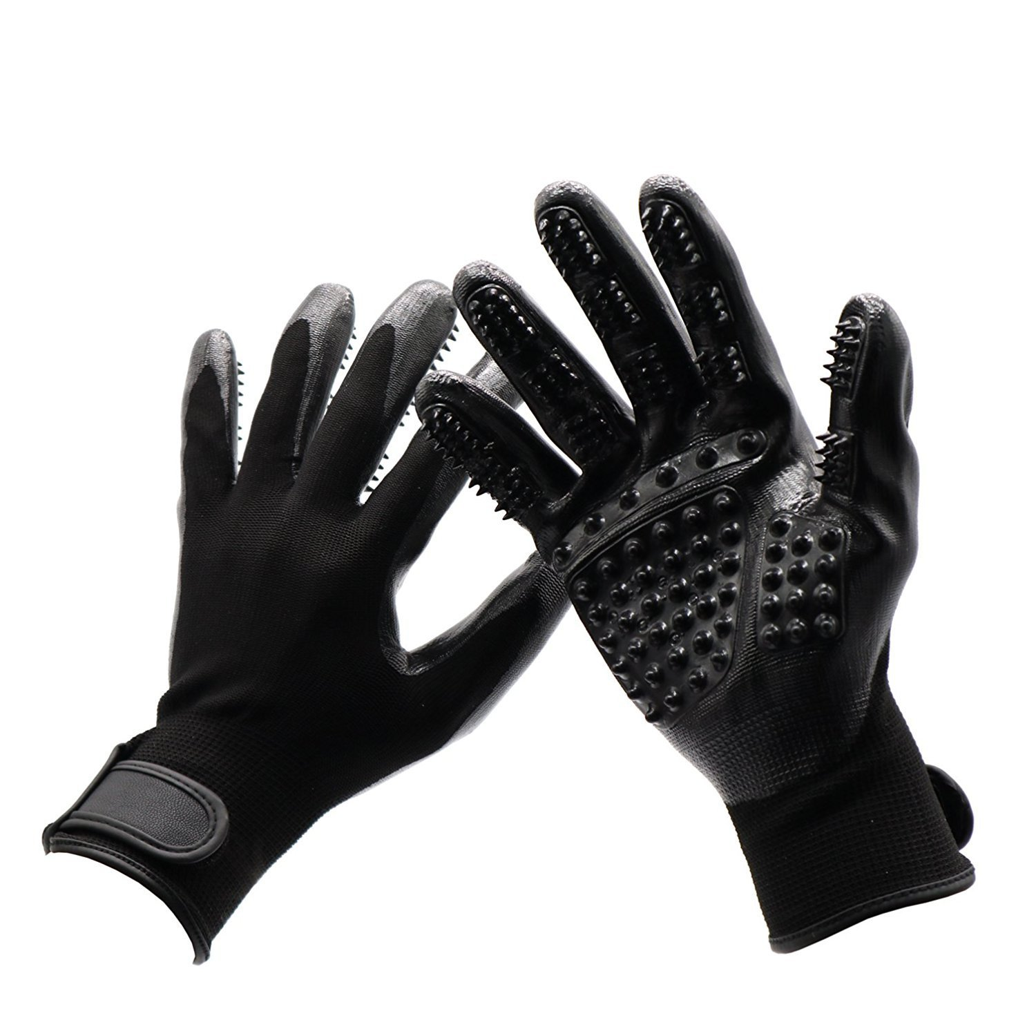 SH NGP Pet Five Finger Gloves Cat and Dog Combing Hair Removal Gloves Pet Bath Massage Beauty Rubber Horse wash Gloves Environmentally Friendly Rubber + Breathable Knitting
