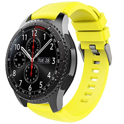 TiMOVO Samsung Gear S3 Frontier/Galaxy Watch 46mm Band, Soft Silicone Strap with Watch Lug Compatible with Samsung Gear S3 Frontier / S3 Classic/Moto ...