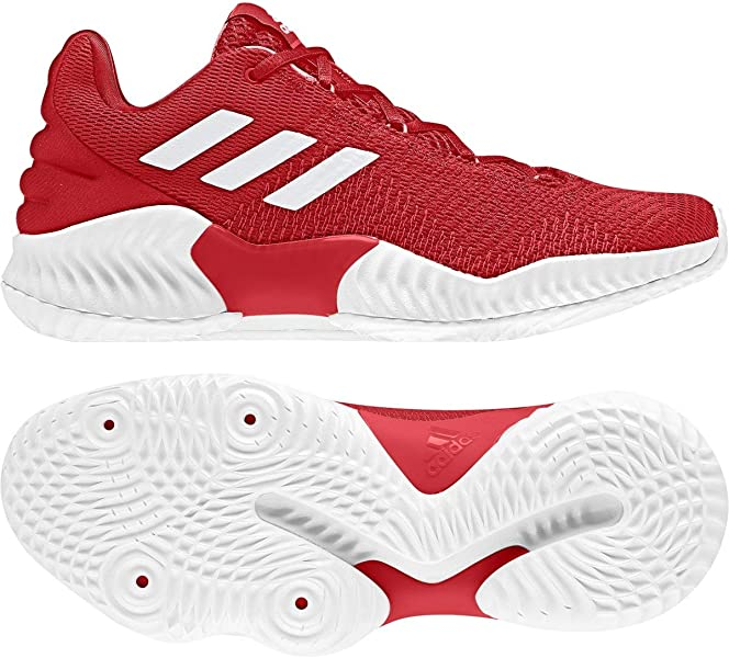 1e205803c2b adidas Pro Bounce 2018 Low Shoe Men s Basketball 8.5 Red-White
