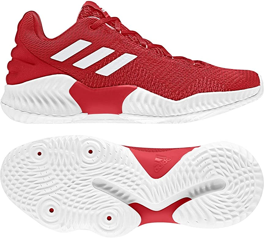 Mens Pro Bounce 2018 Low Basketball Shoe, Adult, Red/White/Red