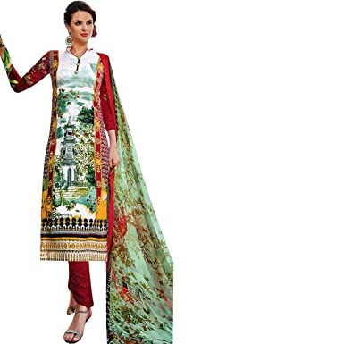 Ready To Wear Designer Karachi Style Cotton Printed Salwar Kameez Indian Dress