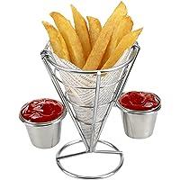 huajian Fry soporte aperitivo cono francés Fry soporte