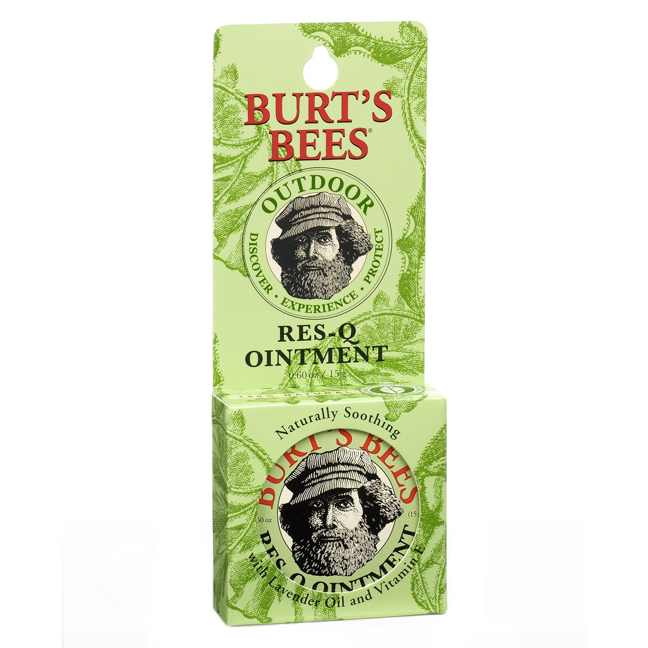Burt's Bees 100% Natural Res-Q Ointment, Multipurpose Balm - 0.6 Ounce Tin (Pack of 6)