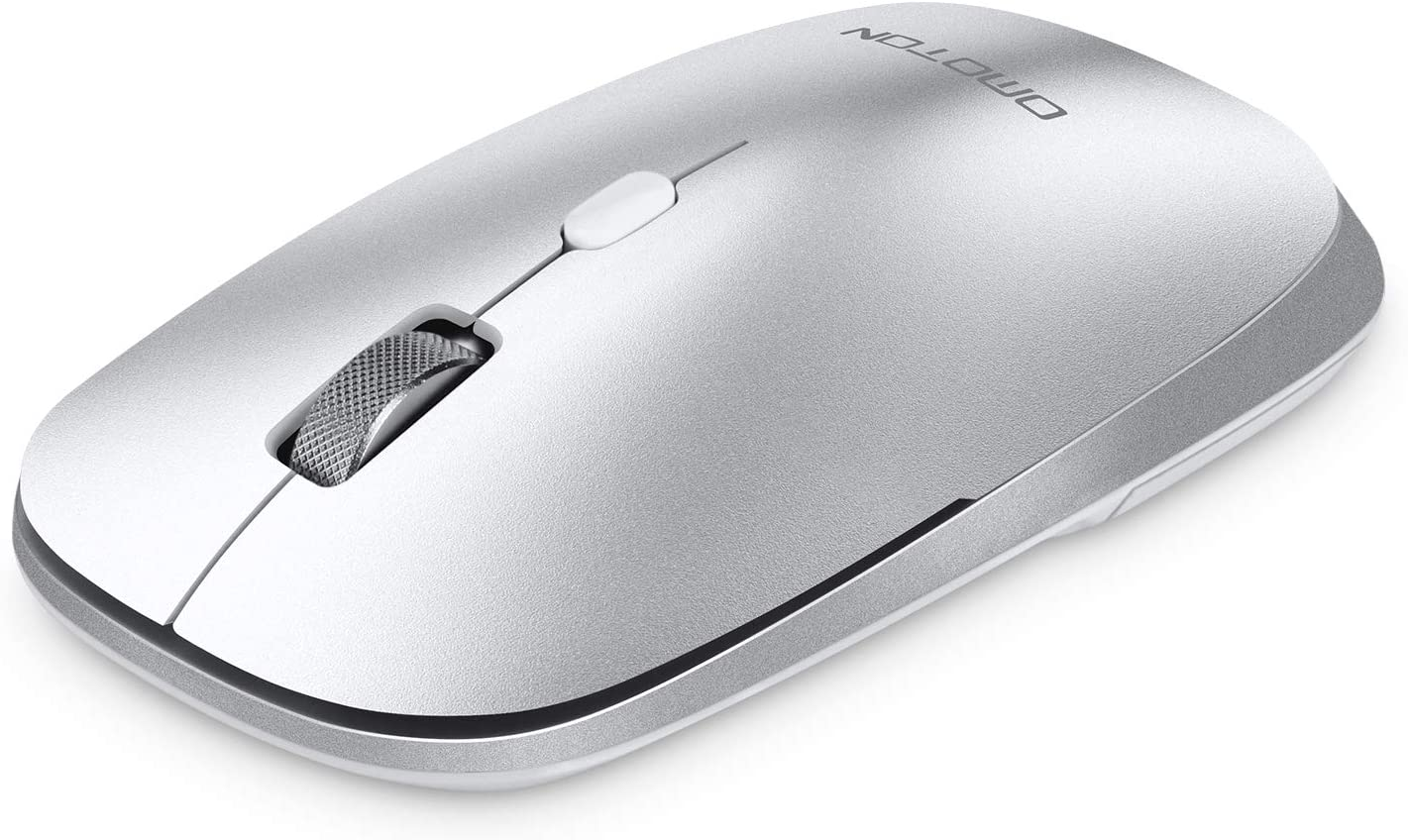OMOTON Bluetooth Mouse for MacBook Pro/MacBook Air, Dual-Mode (BT 3.0 + BT 5.0) Wireless Mouse,3 Adjustable DPI, Compatible with Mac Series/ iMac/iPad/ Laptop/ PC (Silver)
