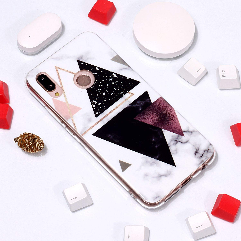 Ultra Mince Creative Color/é Silicone Gel TPU Bling Couverture en Marbre Glitter Antichoc Doux Case Etui de Protection pour Huawei P20 Lite XINYIYI Coque pour Huawei P20 Lite
