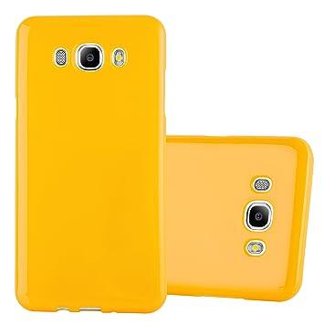 Cadorabo Funda para Samsung Galaxy J5 2015 en Jelly Amarillo - Cubierta Proteccíon de Silicona TPU Delgada e Flexible con Antichoque - Gel Case Cover ...