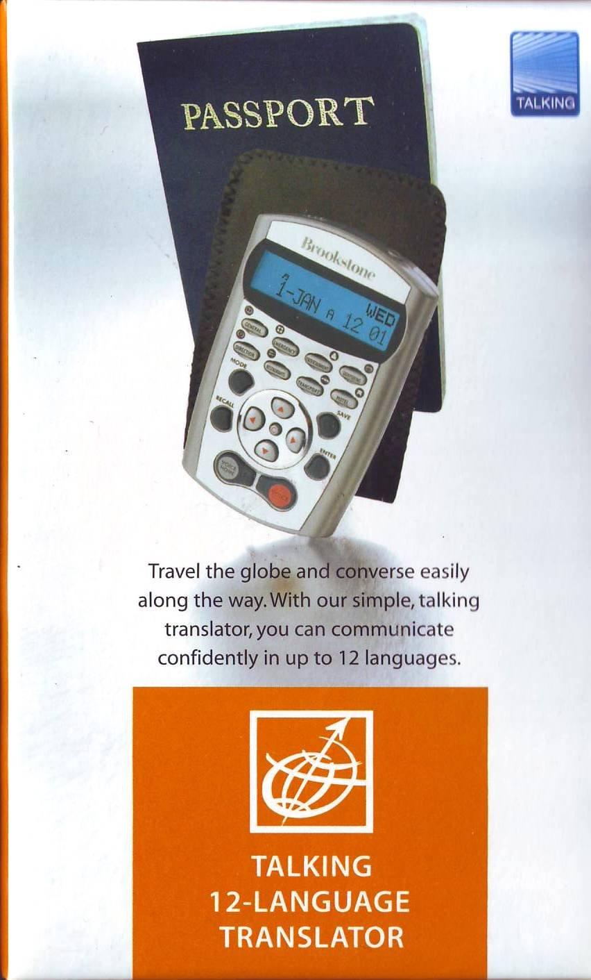 Brookstone Passport Talking 12-Language Translator by Brookstone (Image #2)