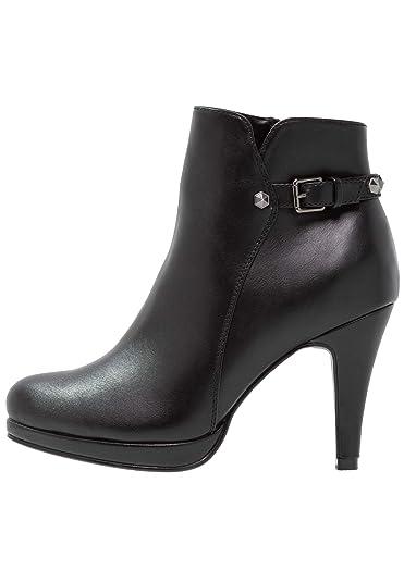 Anna Field Damen Stiefeletten – Ankle Boots mit Stiletto Absatz – Schwarze  Plateau Booties, Größe 8bcbaed422