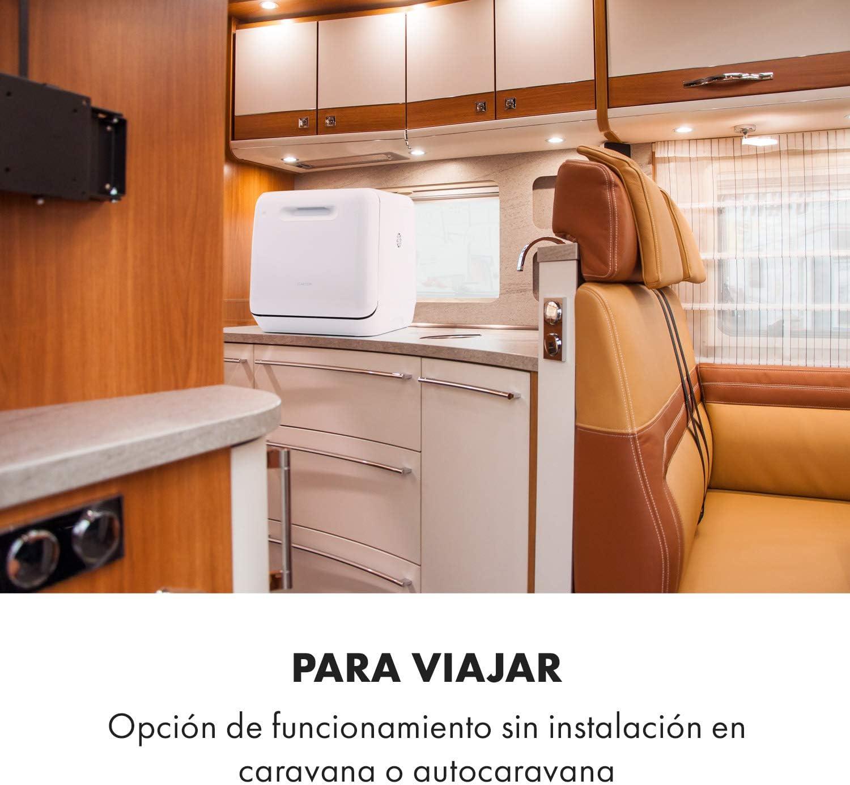 Klarstein Aquatica minilavavajillas - clase A, 125 kWh/año, 2 ...