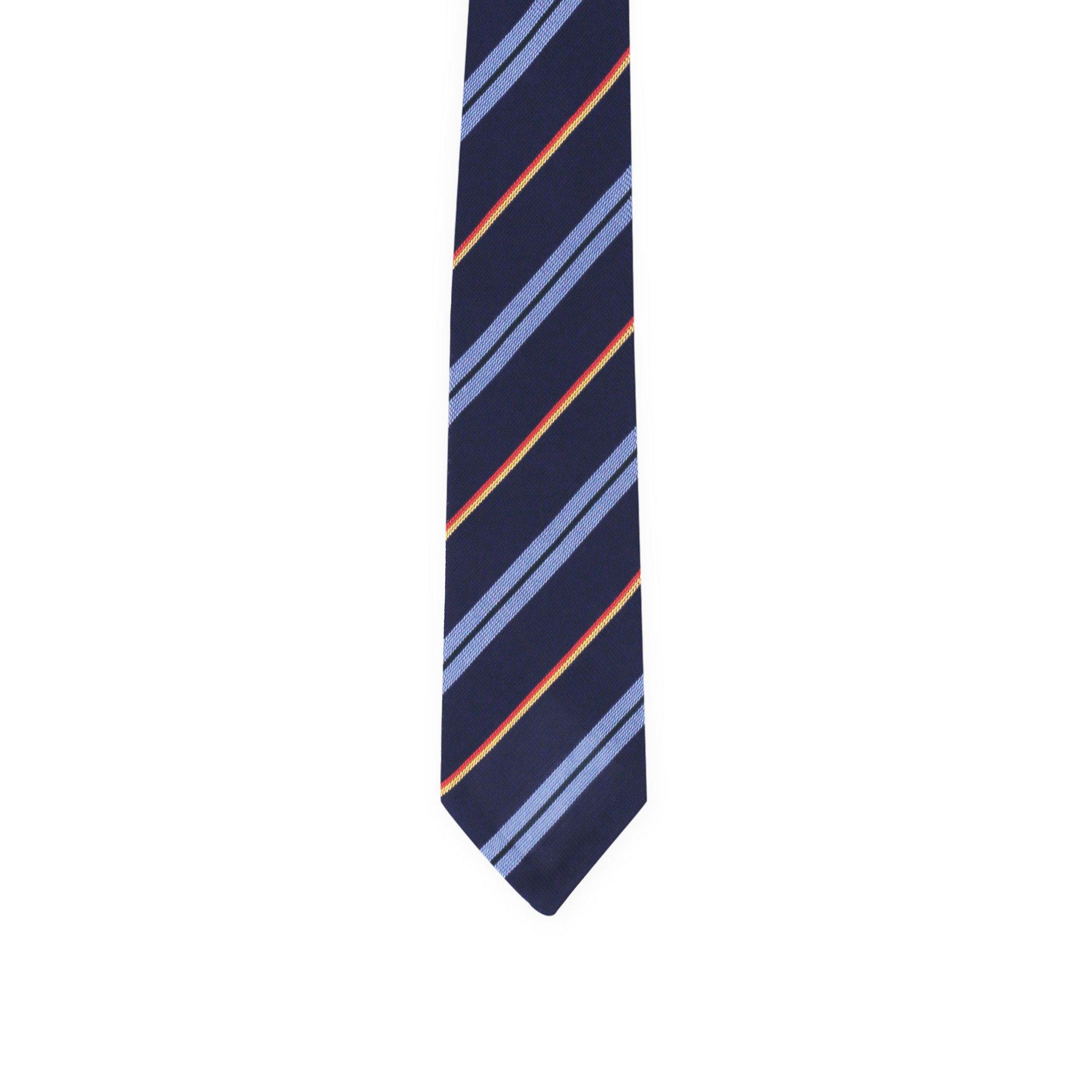Diagonal regimental tie - navy