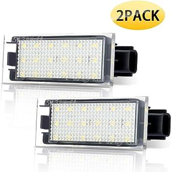 Audew Numero Matricula Licencia LED Luz Auto 12V: Amazon.es: Coche y moto