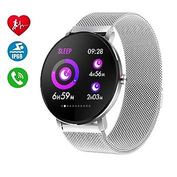 Smartwatch para Hombres Mujeres Niños,Reloj Inteligente Bluetooth IP68 Impermeable,Pulsómetro,Rechazo de Llamada,SMS,Recordatorio de Llamada Fitness ...