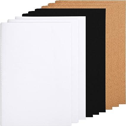 amazon com tecunite 9 pieces journal notebooks office kraft