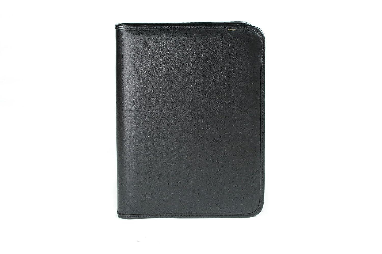 Portadocumentos de Estilo carpesano - con Anillas - para Hojas de tamaño A4 - Cuero sintético de Poliuretano - Negro: Amazon.es: Equipaje