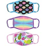 ABG Accessories 3-Pack Kid Fashionable Germ Protection, Reusable Fabric Face Mask Age, Girls