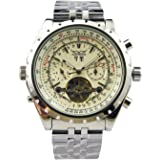 Jaragar Mens 6 Hands Chronograph Stainless Steel Automatic Mechanical Watch