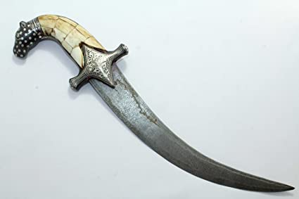 PH Artistic Dagger Cuchillo Damasco Hoja Acero Camel Hueso ...