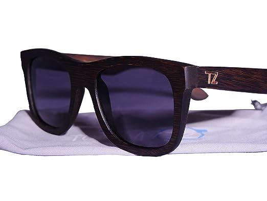 db74cc0a54 Amazon.com  Polarized Floating Bamboo Wood Sunglasses  Clothing