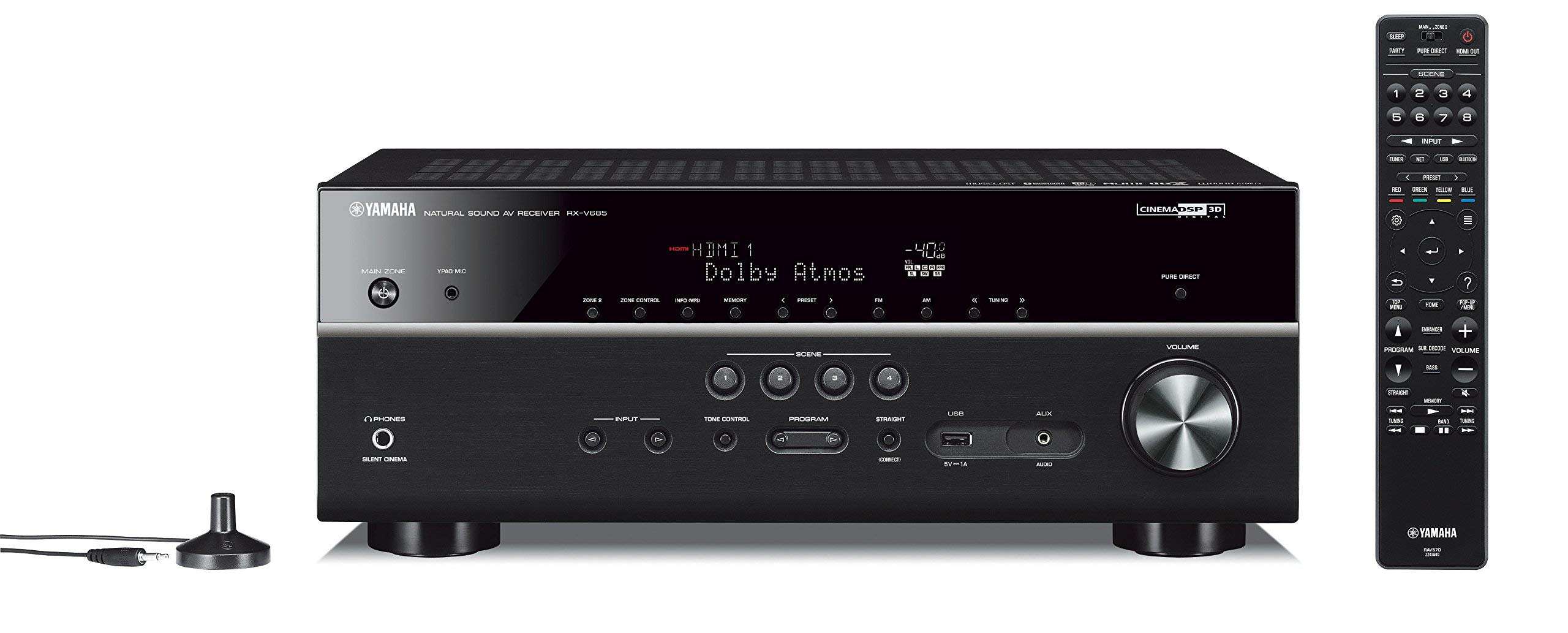 Yamaha RX-V685 7.2-Channel AV Receiver with MusicCast (Renewed) by Yamaha