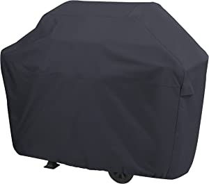 AmazonBasics Gas Grill Barbecue Cover, Medium, Black (Renewed)