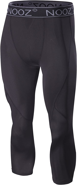 Nooz Men's Quick Dry Powerflex Compression Baselayer Pants, Legging Tights for Men: Clothing