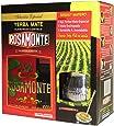 Mate Tee Set Rosamonte Holz - 1kg Tee mit Mate Becher und Trinkhalm (Bombilla)