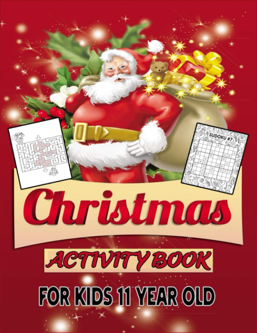 Christmas Activity Book For Kids 11 Year Old: Christmas Countdown