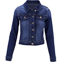 ClothingAve. Womens Stretch Cotton Button Down Classic Denim Jacket w/Pockets