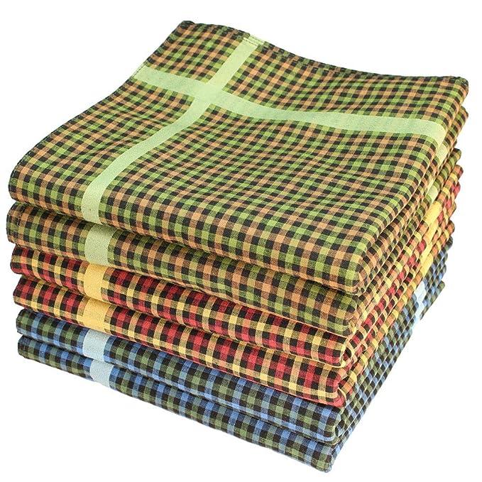 blau//orange//grün Damen-Taschentücher 6er-Pack Baumwolle