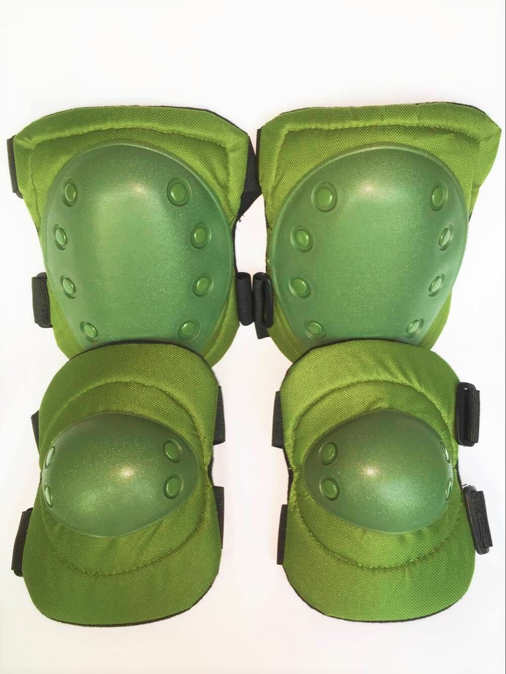 Bargain Crusader Military Tactical Knee Pad Elbow Pad Set Airsoft Knee Elbow Protective Pads Combat Paintball Skate Outdoor Sports Safety Guard Gear (Military Green) by Bargain Crusader